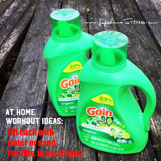 Make your own hand weights during Covid and use At Home workouts to stay healthy