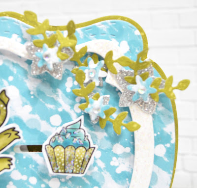 Who says snowflakes have to be white?  The little embellishment die stars in the Star spangled Confetti die from TLC Designs paper crafting store can make beautiful and sweet little snow flakes too!  Paper Crafting and card making at TLC Designs shop is only limited to your imagination!