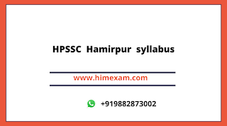HPSSC  Hamirpur  Junior Officer (supervisory Trainee IT)Syllabus