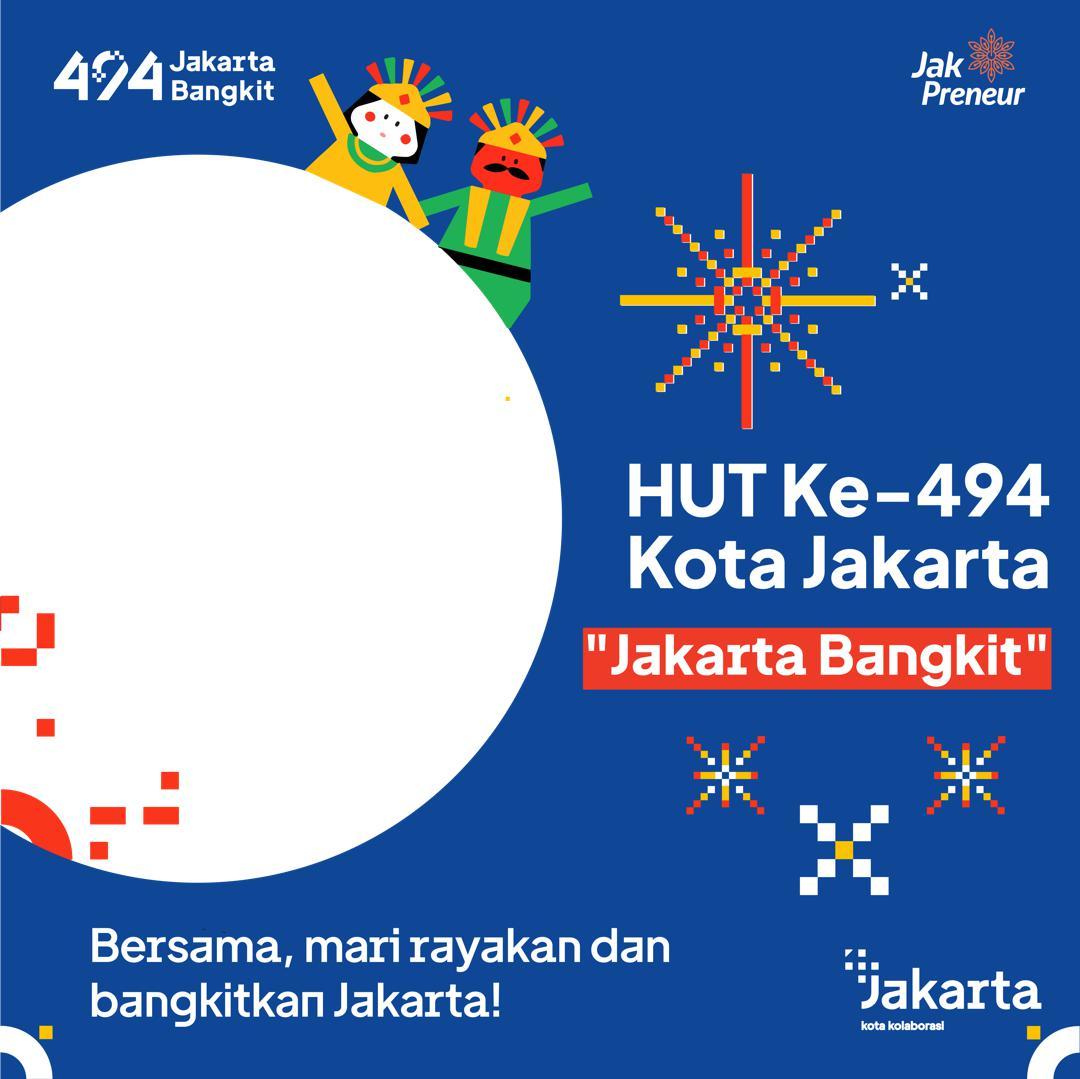 Link Download Bingkai Twibbon Hari Jadi ke-494 Kota Jakarta 2021