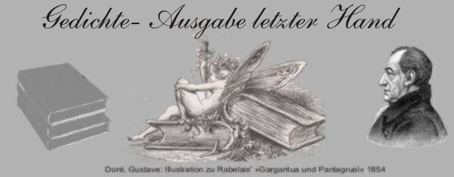 Goethe Gedichte  Vermischte Gedichte