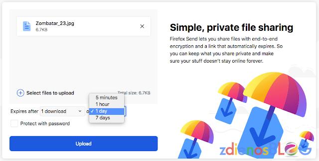 expired setting - Firefox Send - Cara Cepat Mengirim File dengan Aman