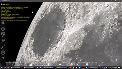 Stellarium running a hi-rez image of the Moon