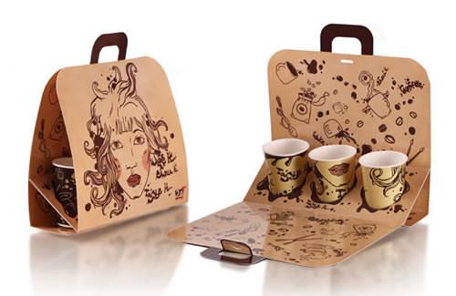 Desain Paper Bag/ Tas Belanja kopi untuk caffe
