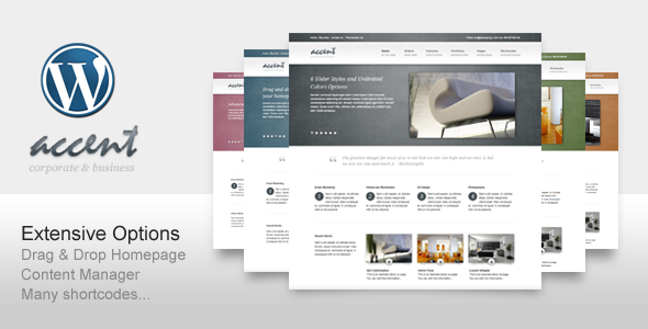 Accent Clean Wordpress Theme Free Download by ThemeForest.