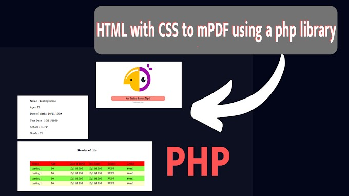 How to create HTML CSS with mPDF PHP Library
