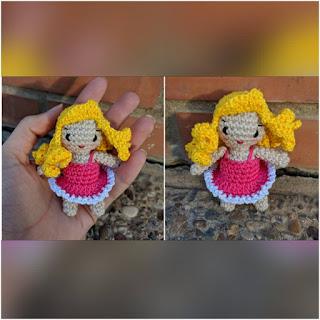 patrón amigurumi Muñeca pequeña crochet y amigurumis