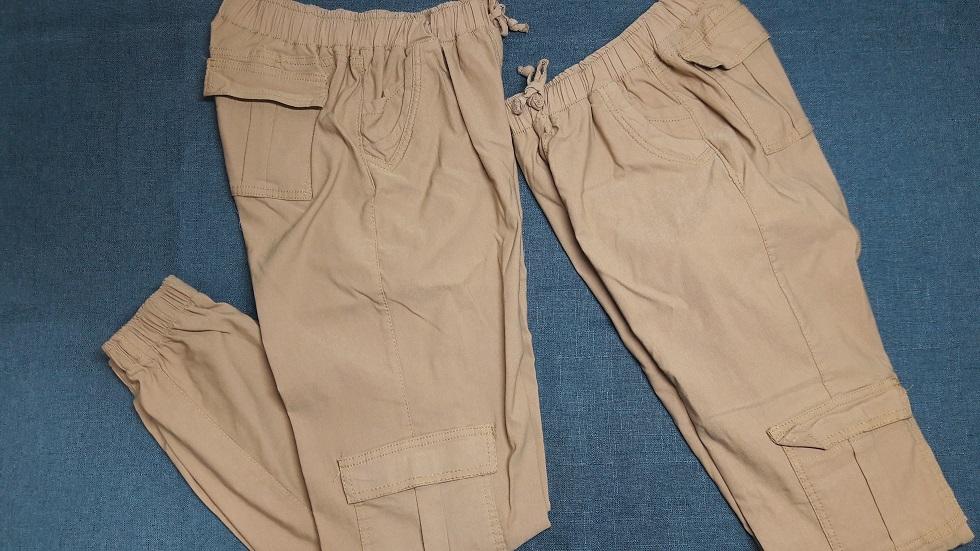 Pantalon de mujer Tipo Cargo en Color Camel semidoblado
