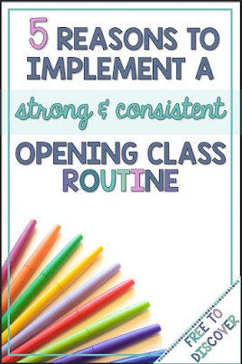 5 Reasons to Implement a Strong & Consistent Opening Class Routine