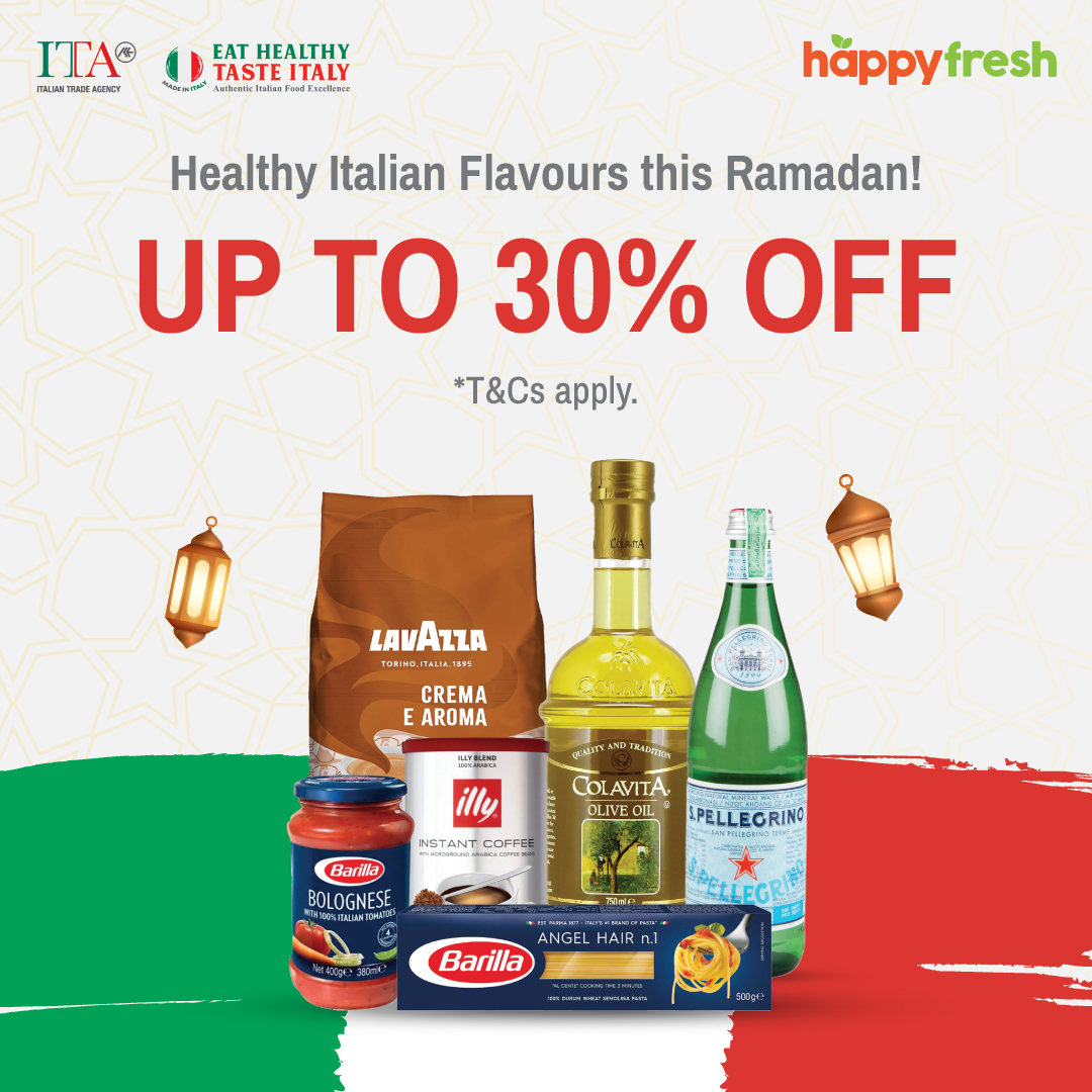 HappyFresh Malaysia: Making merry meals with healthy, made-in-Italy ingredients