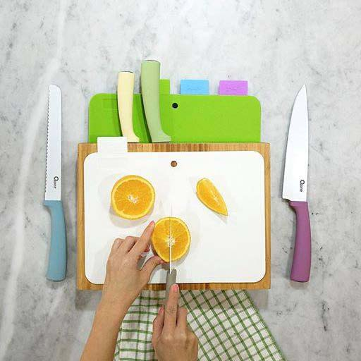 OX-616 Paring Knife & Board Set Oxone