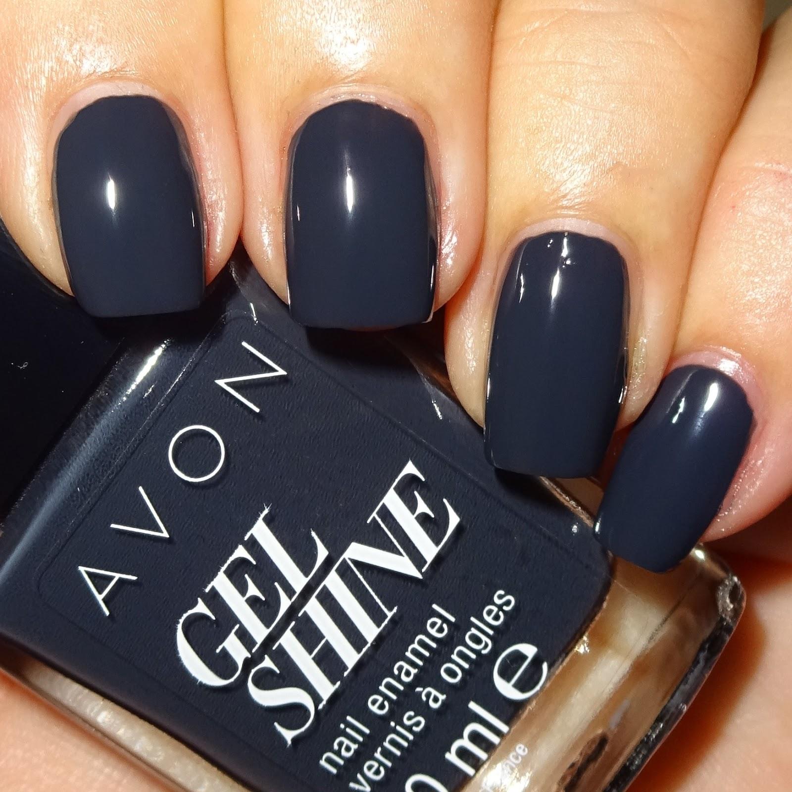 Wendy\'s Delights: Avon Gel Shine Nail Polish - Charcoal Smoke