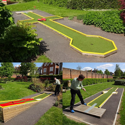 Minigolf at Stoke Park in Guildford (May 2016)