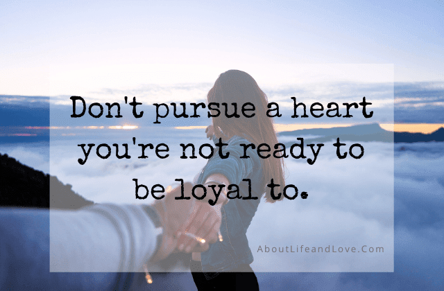 Don't Pursue If You're Not Ready quote