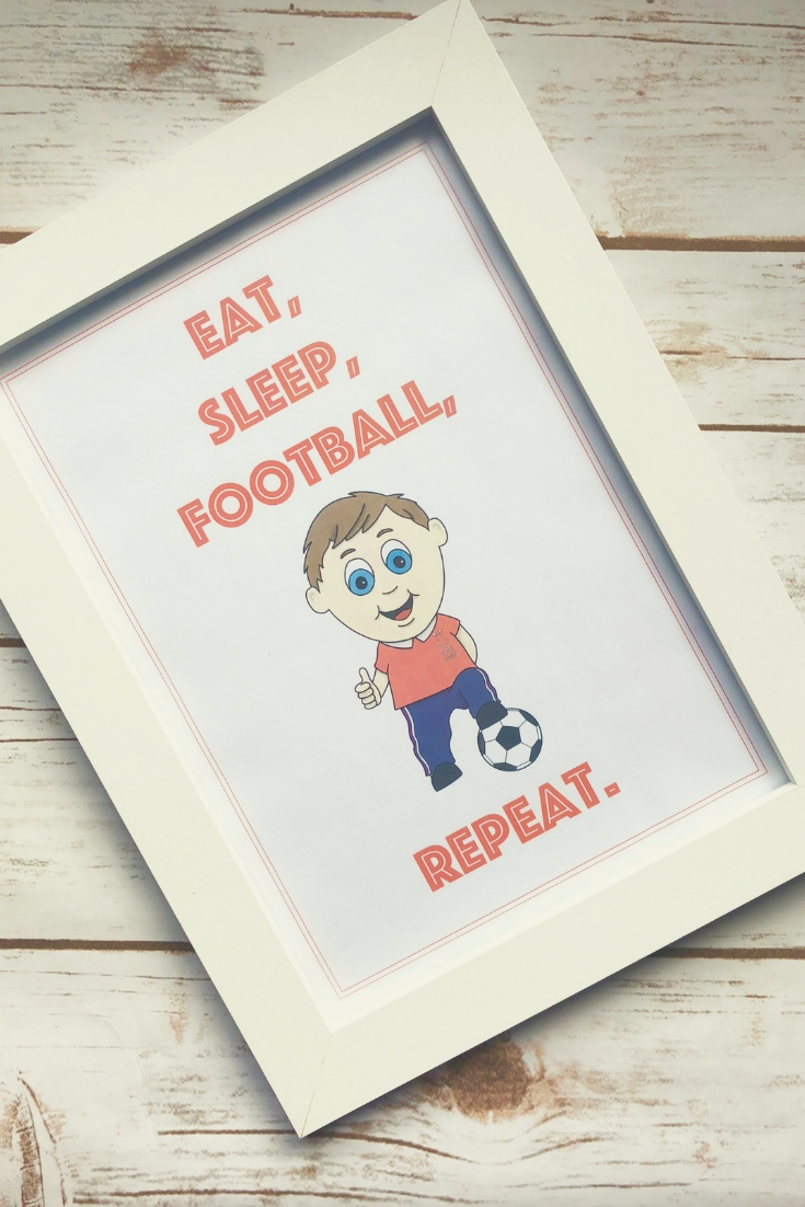 Morgan's Magic Markers | A football print for the football player or supporter in your life. Buy from my Etsy shop.