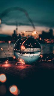 Ball Garland Glass Mobile HD Wallpaper