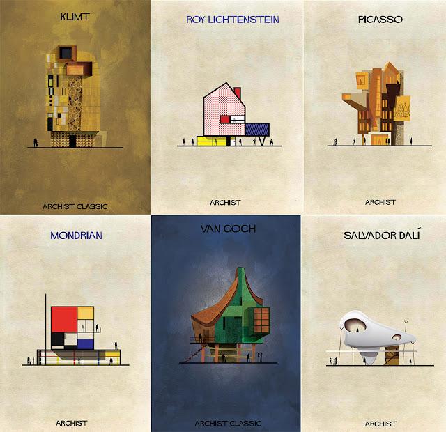 もし有名画家が建築物を作ったら?ゴッホ、ピカソ、ダリの建築?