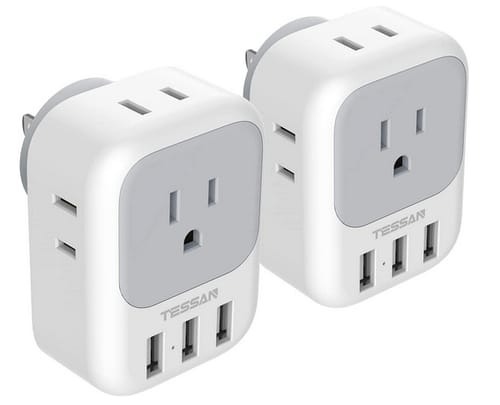 TESSAN 4 Electrical Outlet Extender USB Wall Charger