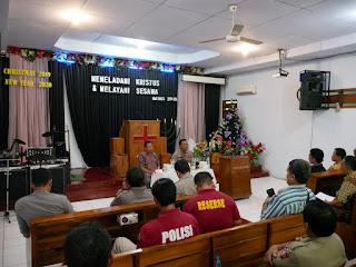 Silaturahmi dengan Tokoh Gereja, Kapolres Berpesan Agar Menjaga Toleransi