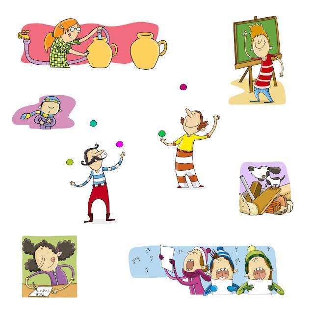 personajes 1, ana sáez del arco, illustration, ilustración