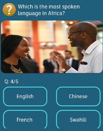 Which is the most spoken language in Africa?