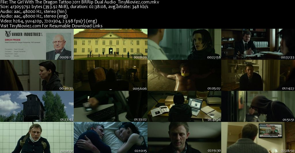 The Girl With The Dragon Tattoo 2011 BRRip Dual Audio