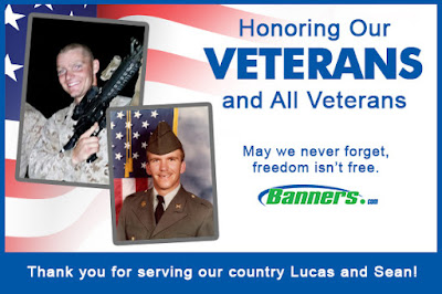 Thank You to our Banners.com Veterans - Lucas and Sean