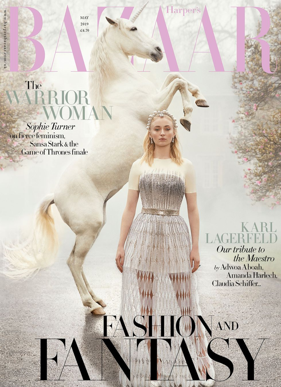 Sophie Turner graces Harper's Bazaar cover