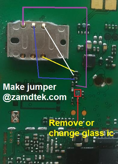 Nokia 1280, Nokia 103, Nokia 1616 and Nokia 1800 Simcard solution jumper without ic