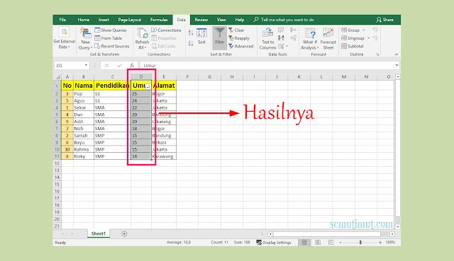 Cara Mengelompokkan Data di Microsoft Excel