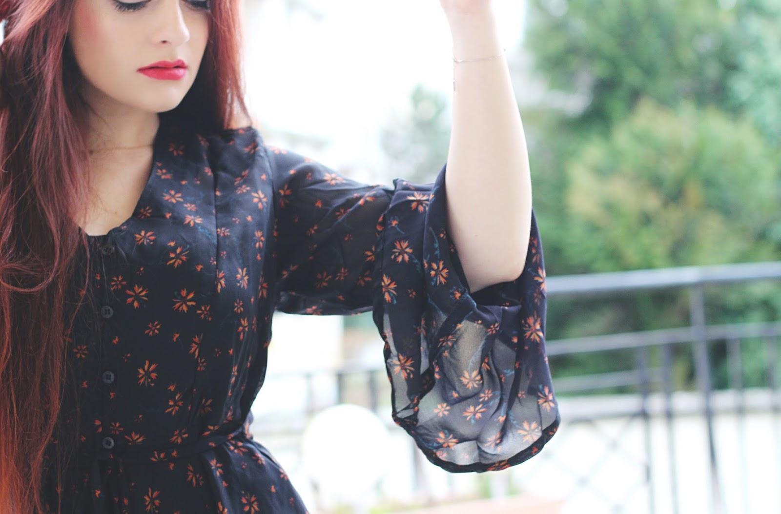 robe à fleurs romantique