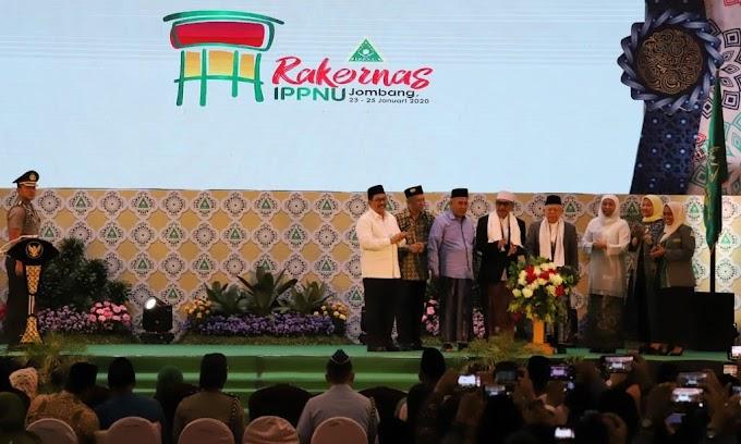 KH Makruf Amin Buka Rakernas IPPNU Di Jombang