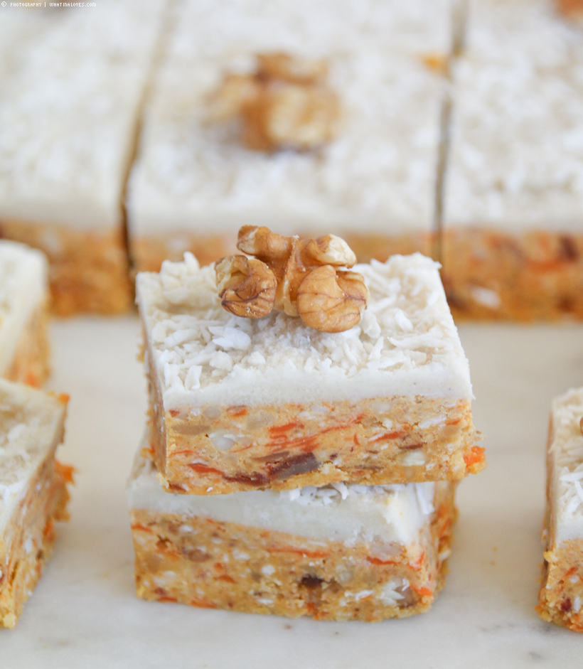 Raw Carrot Cake Bars