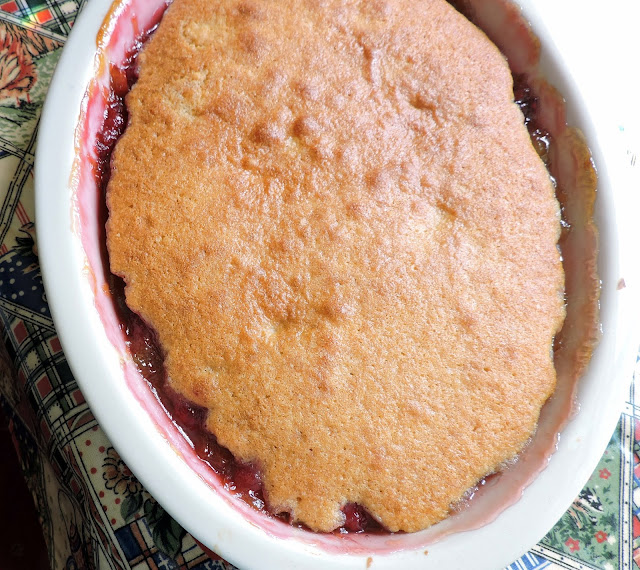 Raspberry & Rhubarb Eve's Pudding