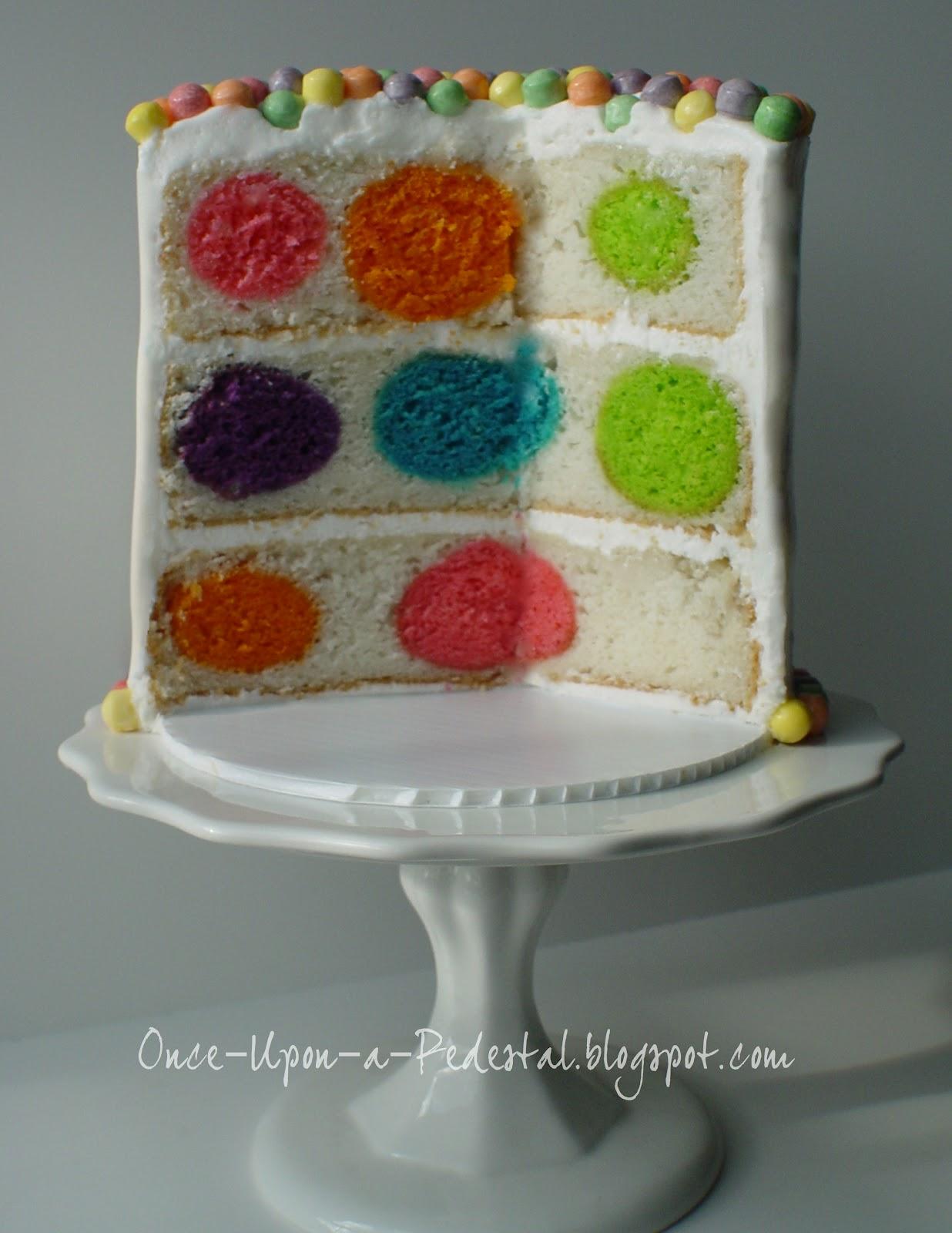 How To Make A Polka Dot Cake Inside
