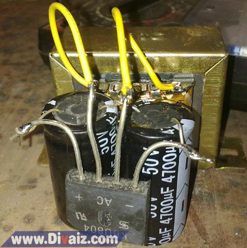 Cara membuat adaptor 24 Volt - www.divaizz.com