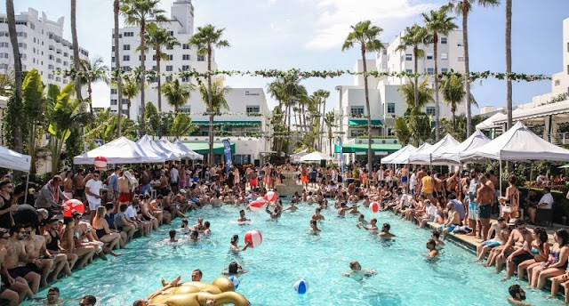 Pool parties em Miami Beach