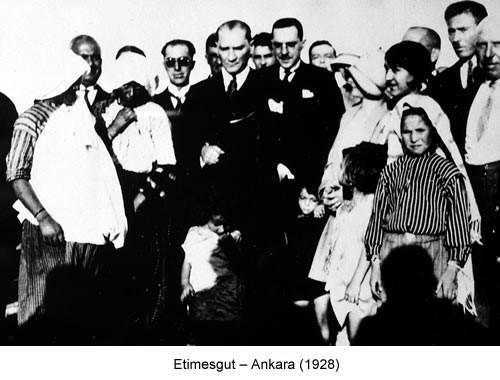 Atatürk Etimesgut 1928 Fotoğraf