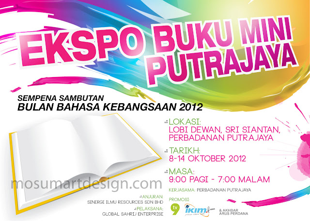 backdrop design ekspo buku