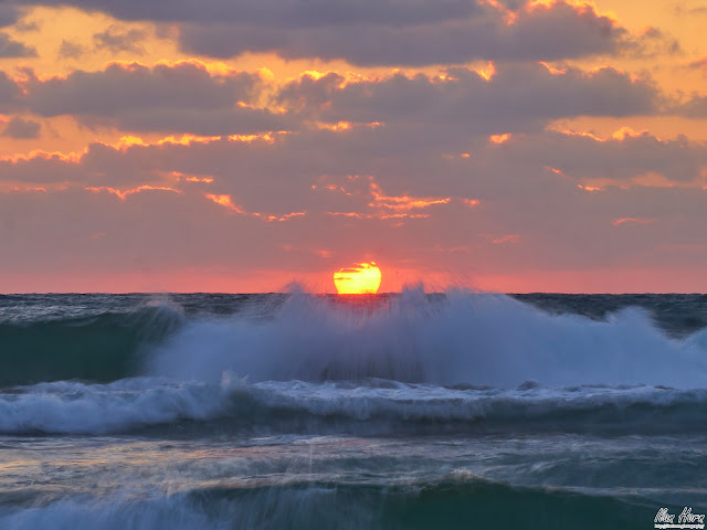 Sun Disappearing in the Waves