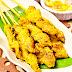 Resep dan Cara Membuat Sate Ayam Bumbu Kunyit ( Kuning ) enak dan lezat