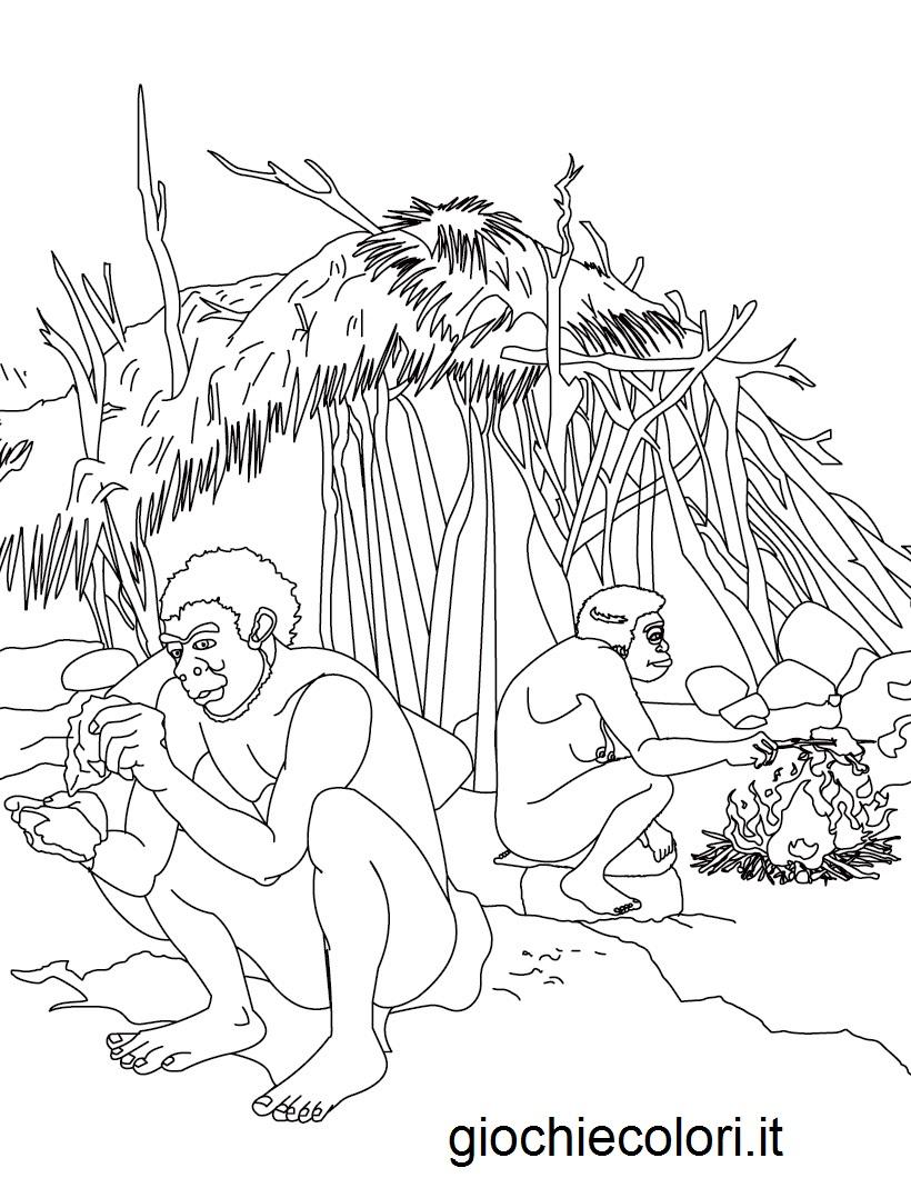 disegni da colorare: DISEGNI DA COLORARE: LA PREISTORIA E