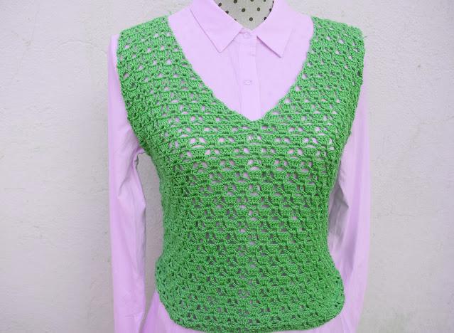 6 - Imagen Crochet Blusa de mujer a crochet y ganchillo parte 1 por Majovel Crochet