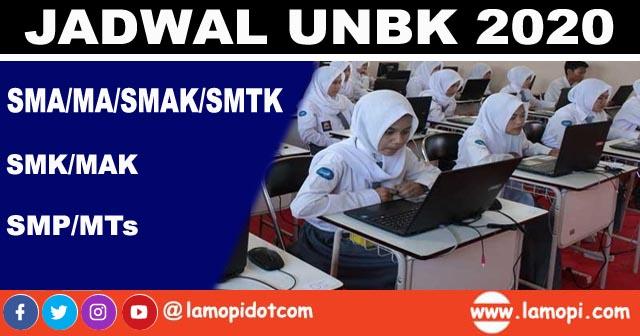 jadwal lengkap UNBK 2020