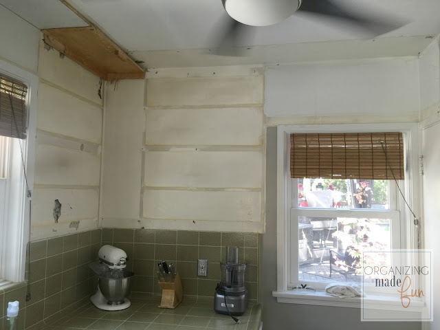 Tearing down upper cabinets :: OrganizingMadeFun.com