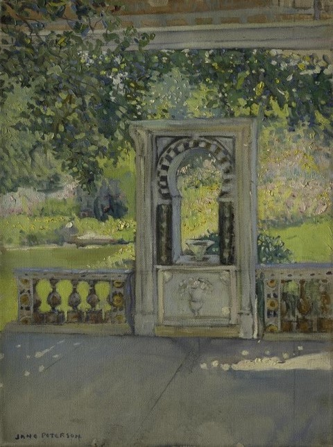 Turkish Fountain with Garden. Jane Peterson. 1910
