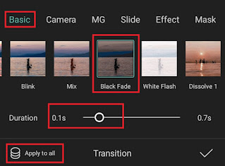how to add black flash in capcut