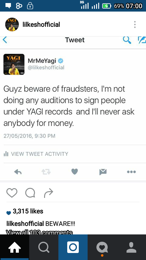 Photos: Lil Kesh and Fraudsters