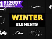 Winter Elements Pack | After Effects 29593330