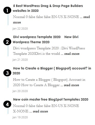 Simple Number count with Image Recent Post Widgets for Blogger